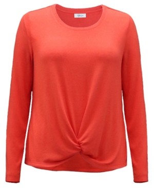 Style&Co. Style & Co Petite Twist-Front Top, Created for Macy's
