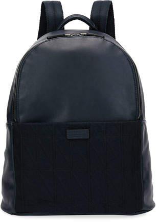 Giorgio Armani Leather & Knit Backpack