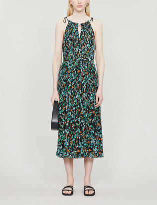 Whistles Forest floral-print crepe midi dress