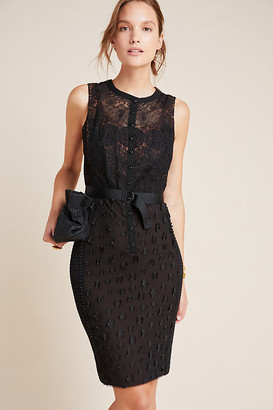 Byron Lars Gisella Lace Sheath Dress By Byron Lars in Black Size 14