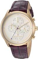 Michael Kors Women's 'Slater' Quartz Stainless Steel and Leather Casual Watch, Color: (Model: MK2687)