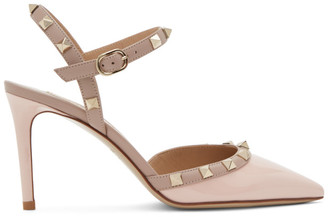 Valentino Pink Garavani Rockstud Patent Heel