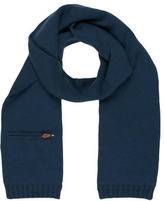 Hermes Cashmere Rib Knit-Trimmed Scarf