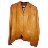 Hermes Camel Leather Jacket