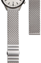 Uniform Wares Men's Milanese mesh watch bracelet with butterfly clasp in brushed steel
