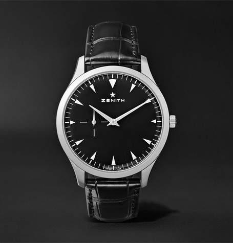 Zenith Elite Ultra-Thin 40mm Stainless Steel And Alligator Watch