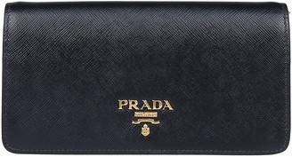 Prada Logo Chain Clutch Bag