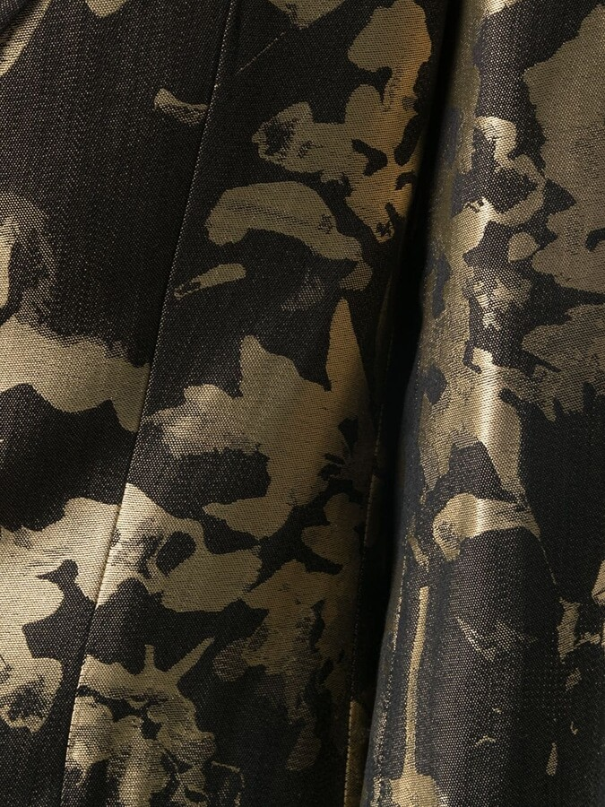 Thumbnail for your product : Maurizio Miri Floral Jacquard Single-Jacquard Blazer