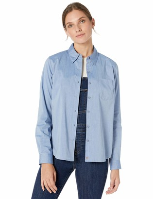 Dickies Women's Long Sleeve Stretch POPLIN Work Shirt