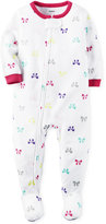 Carter's 1-Pc. Bows-Print Footed Pajamas, Baby Girls (0-24 months)