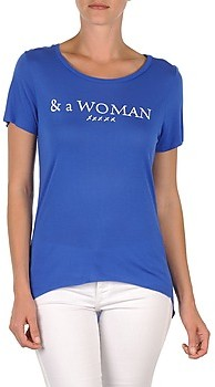 School Rag TEMMY WOMAN women's T shirt in Blue