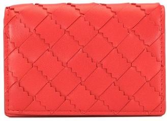Bottega Veneta Interwoven Calf Leather Card Case