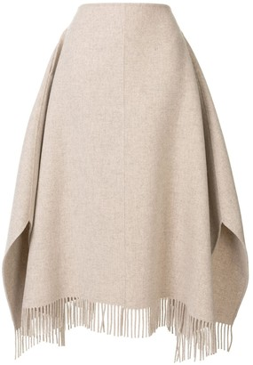 GOEN.J Knitted Frayed Skirt
