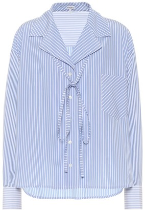 Loewe Striped cotton-poplin shirt