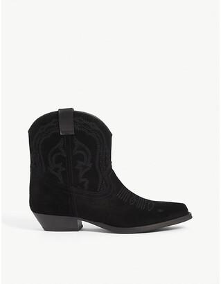 BA&SH Colt suede cowboy boots