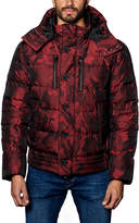 Jared Lang Alaska 2D Camo Hooded Puffer Jacket, Red