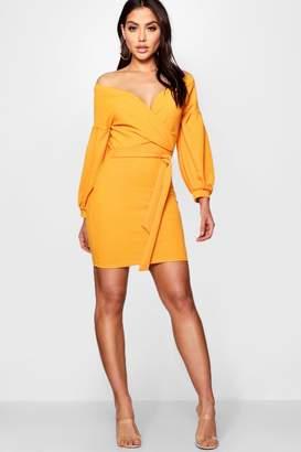 boohoo Off the Shoulder Bodycon Dress