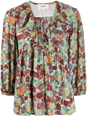 BA&SH Polly floral v-neck blouse
