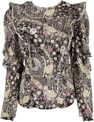 Etoile Isabel Marant Constance ruffle trim blouse