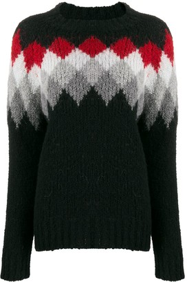 Woolrich Patterned Wool Knit Jumper
