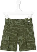 Il Gufo fern print shorts