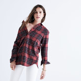 Madewell Flannel Slim Ex-Boyfriend Shirt in Winslow Plaid