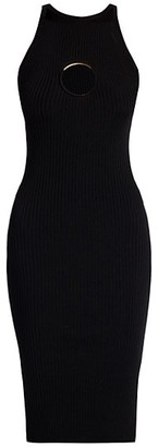 Versace Knit Midi Dress With Ring Hardware