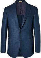 Canali - Blue Kei Slim-Fit Wool-Flannel Suit Jacket