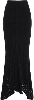 Kitx Split-front Crochet And Knit Cotton Midi Skirt