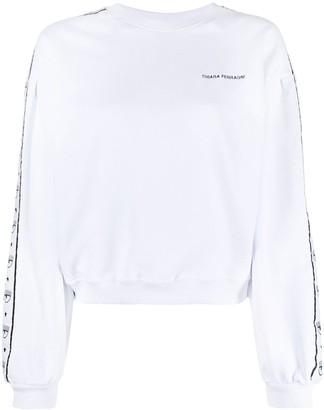Chiara Ferragni Logo-Stripe Sweatshirt