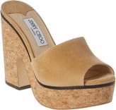 Jimmy Choo Deedee 125 Suede Platform Sandal