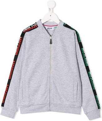 Moschino Kids logo bomber jacket