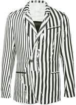 Haider Ackermann distressed-effect striped blazer