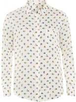 American Vintage Womens Galione Shirt, Floral Print Cushion Garden Shirt