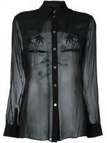Alexander Wang embroidered palm tree shirt