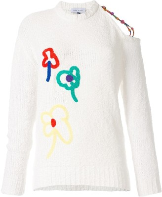Mira Mikati Applique Open Shoulder Jumper