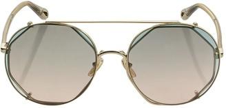 Chloé Demi Round Metal Sunglasses