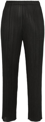 Pleats Please Issey Miyake High-Waisted Slim Fit Trousers