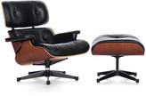 Vitra LCH Eames Lounge Chair & Ottoman - Cherry/Black