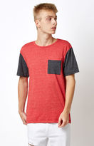 On The Byas Raglan Pocket Red T-Shirt