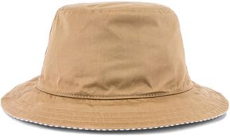 Thom Browne Reversible Classic Bucket Hat in Khaki & Navy | FWRD