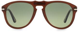 Persol X A.P.C 54MM Tortoise Aviator Sunglasses