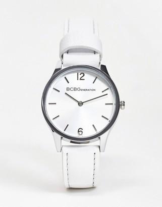 BCBGMAXAZRIA Generation silver dial watch