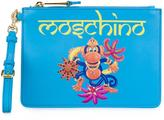 Moschino crowned monkey clutch - women - Calf Leather/Polyester - One Size