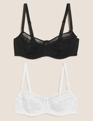 Marks and Spencer 2 Pack Embroidered Balcony Bras B-E