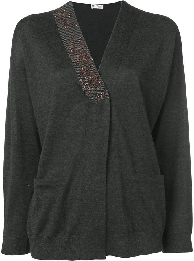 Brunello Cucinelli embellished cardigan