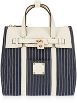 Henri Bendel Jetsetter Mini Convertible Striped Canvas Backpack