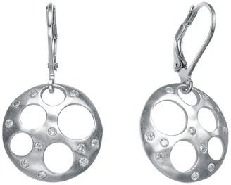 Genevive Silver Cz Bubble Earrings