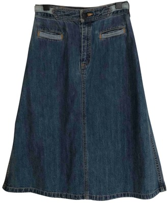 Surface to Air Blue Denim - Jeans Skirt for Women