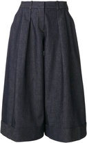 Jil Sander Navy wide leg cropped pants